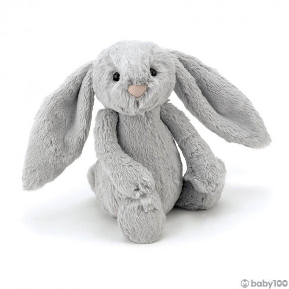 英國JELLYCAT 害羞賓尼兔系列 賓尼兔公仔 (銀色) (18CM)