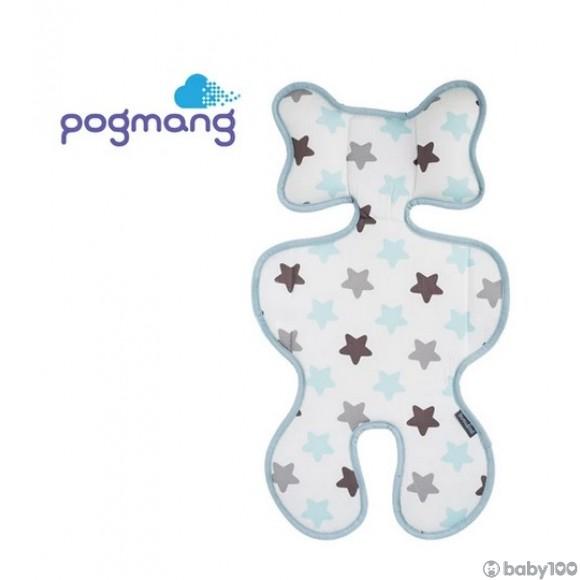POGMANG - 3D 織網透氣呼吸嬰兒車墊 - 小星星