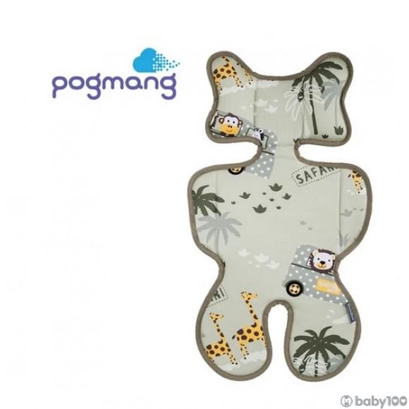 POGMANG - 3D 織網透氣呼吸嬰兒車墊 - 野生動物