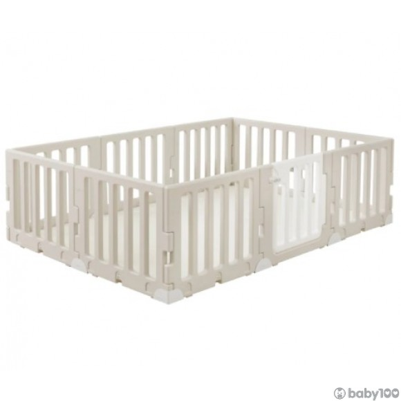 Caraz LINE 9+1 Baby Room and Play Mat Set with Panel Holders - Cozy Beige