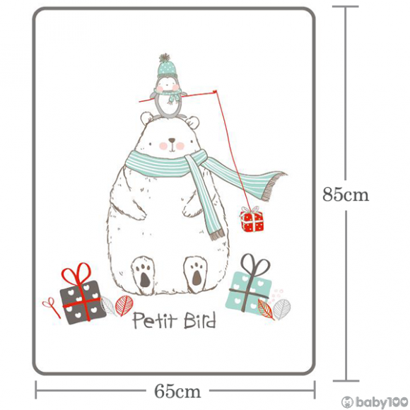 韓國Petit Bird竹纖維嬰幼兒防水保潔床墊—北極熊