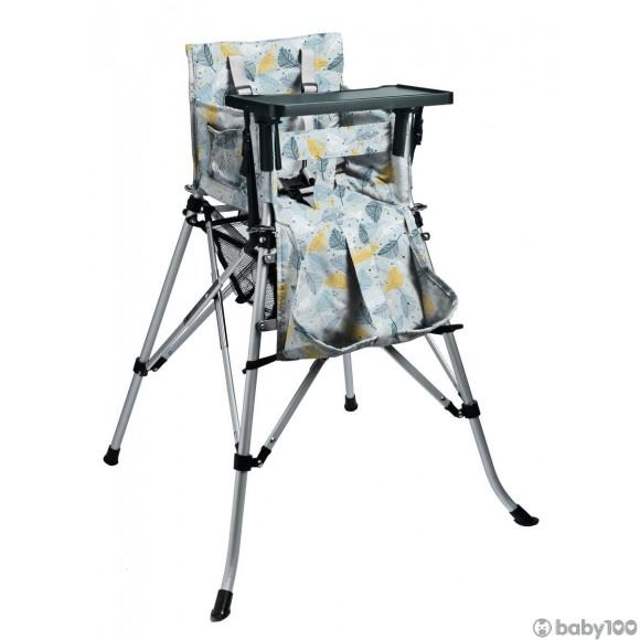 One2Stay 戶內外兩用摺疊高腳餐椅標準版 - 羽毛藍