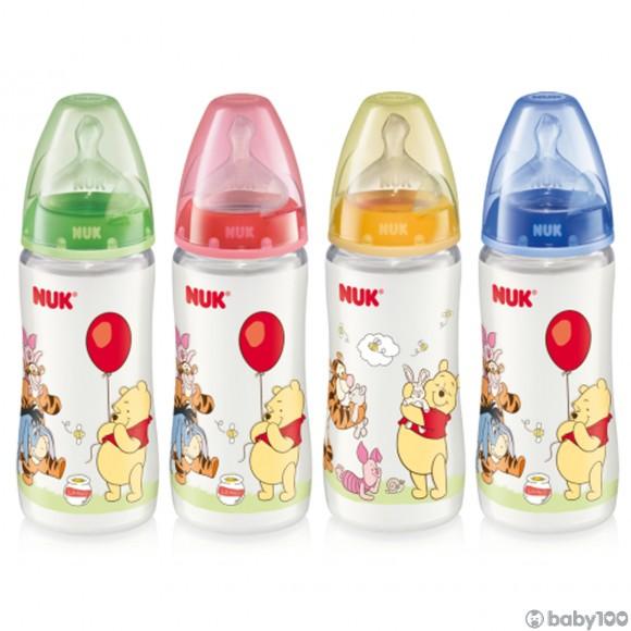 NUK 迪士尼300ML寬口PP奶瓶/矽膠奶咀1號中孔