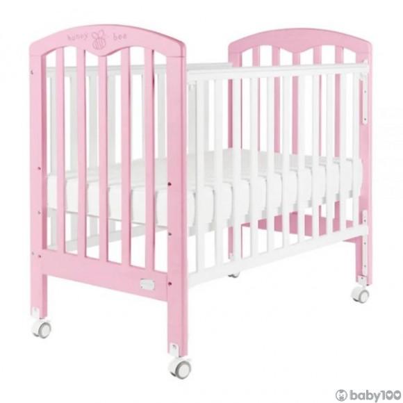 "Baby Star Cozzi 嬰兒木床(包括4""床褥) – 粉紅色 / 歐洲櫸木"