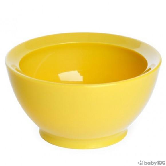 CaliBowl 專利防漏防滑幼兒學習碗 (8OZ) (黃)