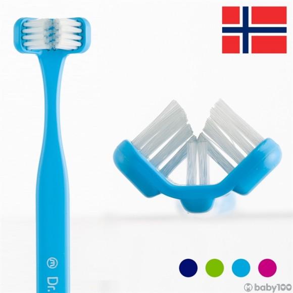 Dr.Barman's 三面式牙刷 (淺藍)
