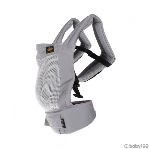 MIMOSA 人體工學透氣嬰兒揹帶 (灰色網格)