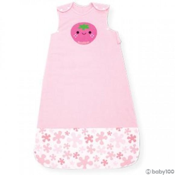 Naforye 舒棉2in1 嬰兒睡袍抱袋 (前開拉鍊款) (士多啤梨)