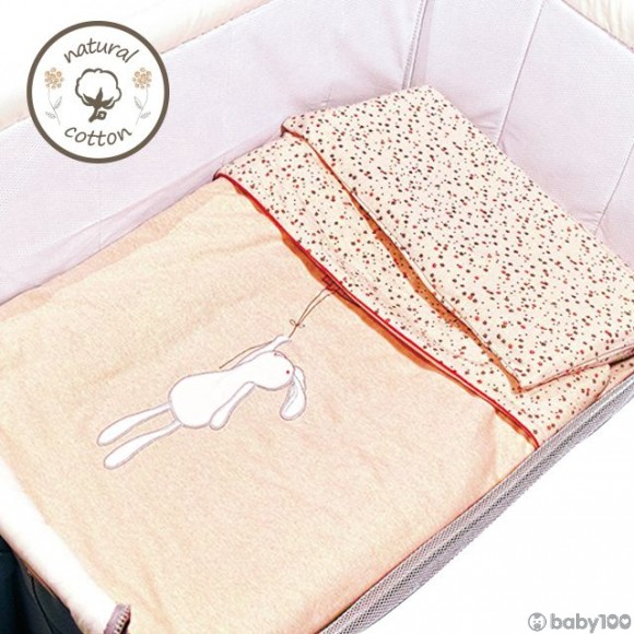 0/3 BABY 天然彩棉細碼床上用品3件套裝 (花園茶會)
