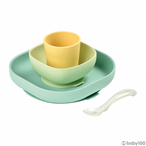 Beaba 矽膠餐具套裝 (黃)
