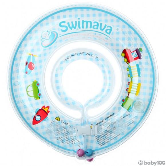 Swimava G1 嬰兒游泳圈套裝 (藍色火車) (1-18個月)