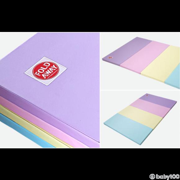 Foldaway playmat 地墊 (藍黃紫粉) (超細)