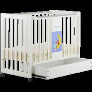 C-MAX 有柜桶嬰兒床 CM-1311207(Moon)+Drawer