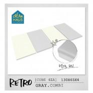 CreamHaus 冰棒貼地墊 (鐵灰&奶白色)  Retro Palette  (Gray & White)
