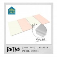 CreamHaus 冰棒貼地墊 (粉紅&奶白色)  Retro Palette  (Pink & White)