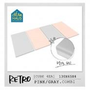 CreamHaus 冰棒貼地墊(粉紅&鐵灰)  Retro Palette  (Pink & Gray)