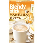 AGF - Blendy Stick 速溶咖啡絲滑牛奶拿鐵 (10條) - 黃