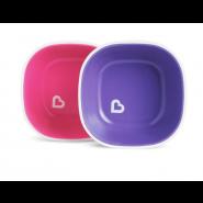 MUNCHKIN SPLASH 餐碗 (2 件裝) (紅紫)