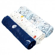 Aden+Anais 竹纖維嬰兒包巾(3件裝)SILKY SOFT BAMBOO SWADDLES STARGAZE
