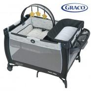 Graco Pack 'n Play® Anywhere Dreamer™ 多用途安撫遊戲網床連尿布更換–河馬