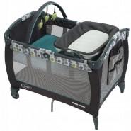 Graco Corralito PNP舒適嬰幼兒安撫遊戲床連雙面尿布更換台 (綠葉)
