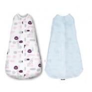 KUKU 超好眠洞洞成長包巾 - 粉彩印記