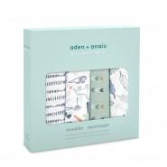 Aden+Anais 經典嬰兒包巾恐龍 ( 4件裝 ) CLASSIC SWADDLES DINOTIME
