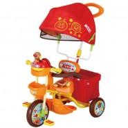日本 ANPANMAN 麵包超人 遮陽手推三輪車 - 橘色