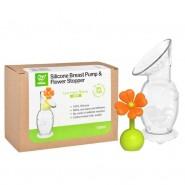 Haakaa (紐西蘭) 矽膠吸奶器連花花塞禮盒裝 (150ml)