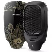 飛利浦 Philips HP4722 負離子造型髮梳 亮黑色配金花紋 香港行貨