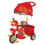 日本 ANPANMAN 麵包超人 遮陽手推三輪車 - 紅色