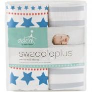 Aden+Anais 嬰兒包巾 小炸圖案 ( 2件裝 ) SWADDLE PLUS SMALL FRY