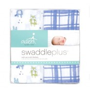 Aden+Anais 嬰兒包巾 小炸圖案 ( 2件裝 ) SWADDLE PLUS FRIENDLY FOREST