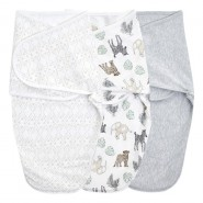 Aden+Anais 包巾睡袋 ( 3件裝 ) ESSENTIALS EASY SWADDLE SNUGS WRAPS TOILE