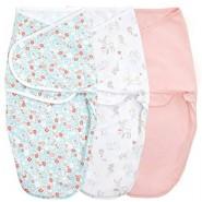 Aden+Anais 包巾睡袋 ( 3件裝 ) ESSENTIALS EASY SWADDLE SNUGS WRAPS FAIRY TALE FLOWERS