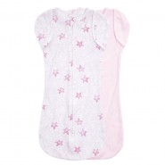 Aden+Anais 包巾睡袋 (2件裝 ) ESSENTIALS EASY SWADDLE SNUGS TWINKLING STARS PINK