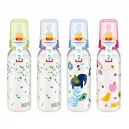 Nuk 印花PP奶瓶(240ml) + 中孔矽膠奶咀(2號)