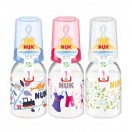 Nuk 印花PP奶瓶(110ml) + 中孔矽膠奶咀(1號)