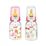 Nuk 印花PP奶瓶(110ml) + 中孔乳膠奶咀(1號)