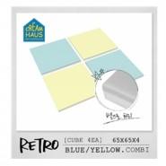 CreamHaus 冰塊貼地墊 (藍色&黃色) Retro Cube  (Blue & Yellow)