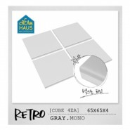 CreamHaus 冰塊貼地墊  (鐵灰色)  Retro Cube (Grey)