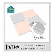 CreamHaus 冰塊貼地墊 (粉紅&鐵灰)
