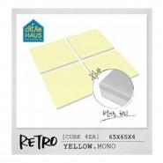 CreamHaus 冰塊貼地墊 (黃色) Retro Cube (Yellow)