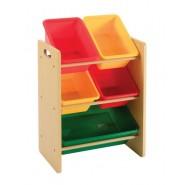 Baby Star x Delsun 五格玩具收納架 - 繽紛彩虹