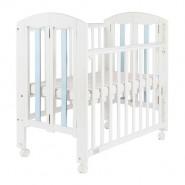 "Baby Star Easi 摺合嬰兒木床(包括2"" 床褥) – 粉藍色 / 紐西蘭松木"