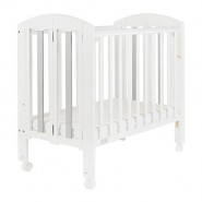 "Baby Star Easi 摺合嬰兒木床(包括2"" 床褥) – 灰色 / 紐西蘭松木"