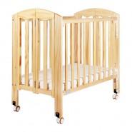 "Baby Star Easi 摺合嬰兒木床(包括2"" 床褥) – 原木色 / 紐西蘭松木"