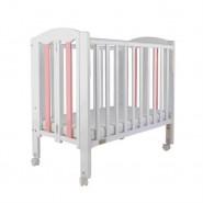 "Baby Star Easi 摺合嬰兒木床(包括2"" 床褥) – 粉紅色 / 紐西蘭松木"