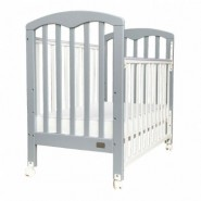 "Baby Star Cozzi 嬰兒木床(包括4""床褥) – 灰色 / 歐洲櫸木"