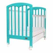 "Baby Star Cozzi 嬰兒木床(包括4""床褥) – 湖水藍色 / 歐洲櫸木"